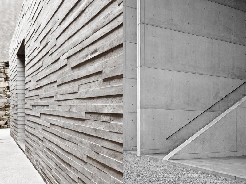 El cemento como elemento decorativo maria victrix for Muro de concreto armado