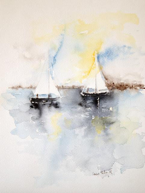 aquarelle marine