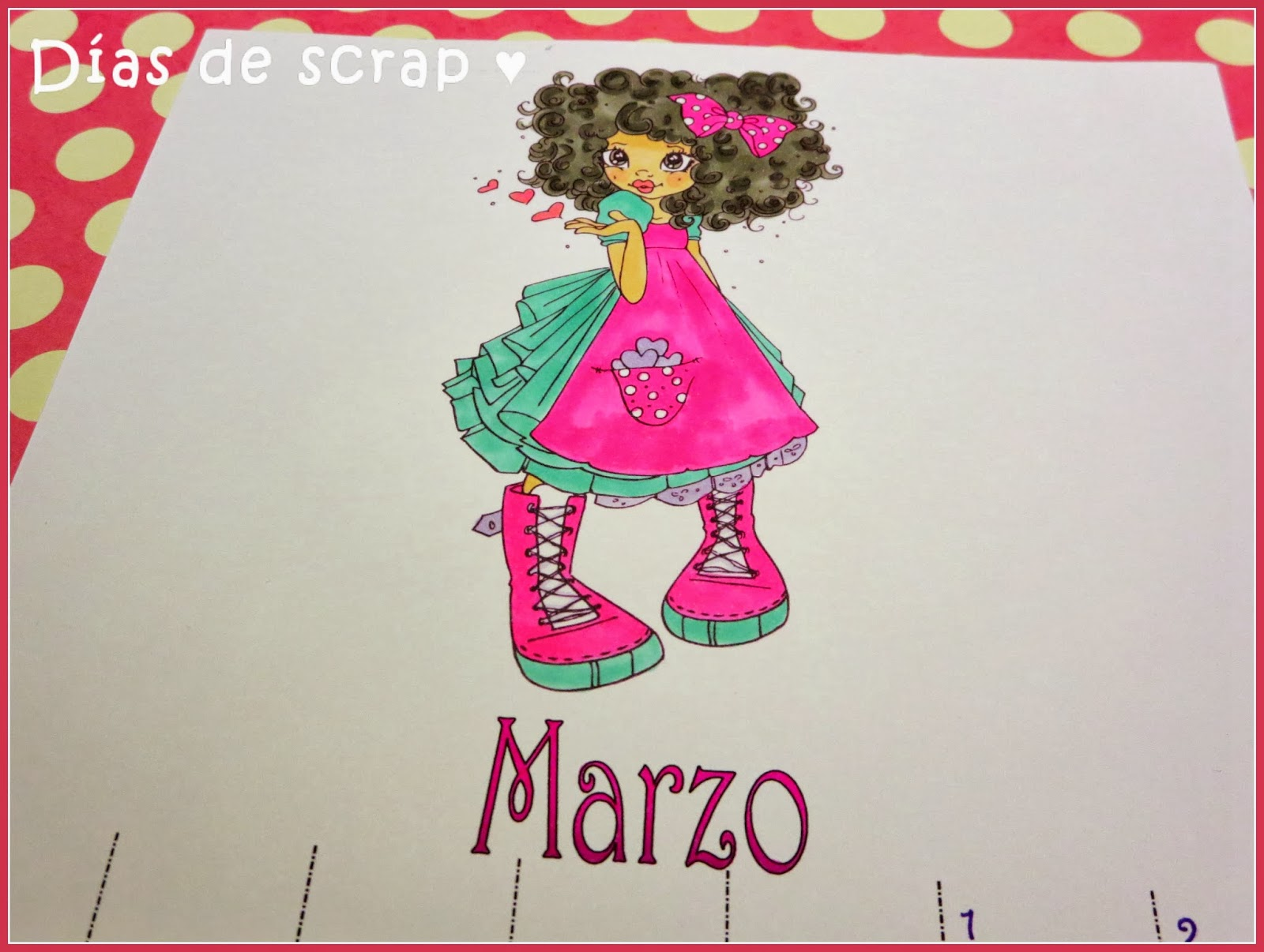scrap calendario marzo saturated canary
