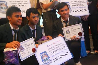 Keputusan Liga Remaja Kreatif 2013 Zon Sarawak