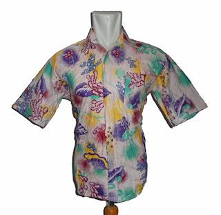 Model baju batik kantor pria