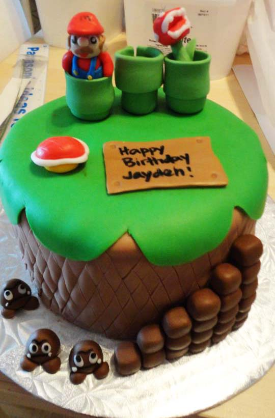 Cup O Cake Super Mario Cake Happy Birthday Jayden