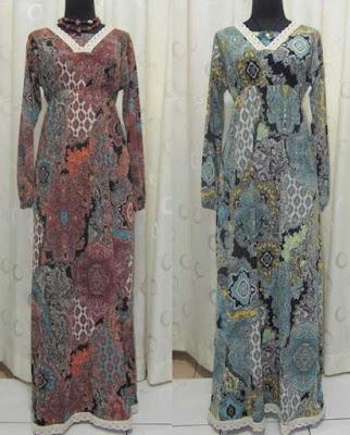 Model Gamis Batik terbaru Tanah Abang Murah