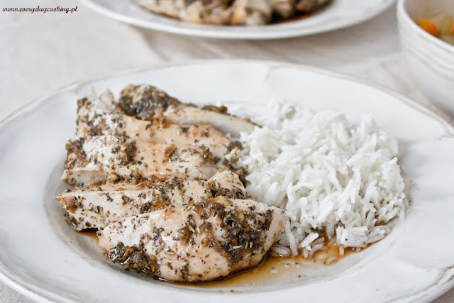 Aromatyczne piersi kurczaka w sosie imbirowo-miodowym