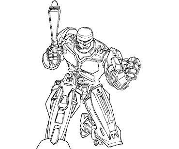 #1 Robocop Coloring Page