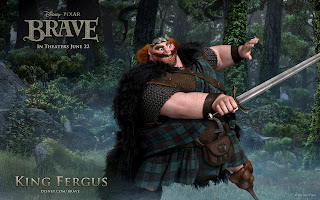 Brave Movie Character King Fergus HD Wallpaper