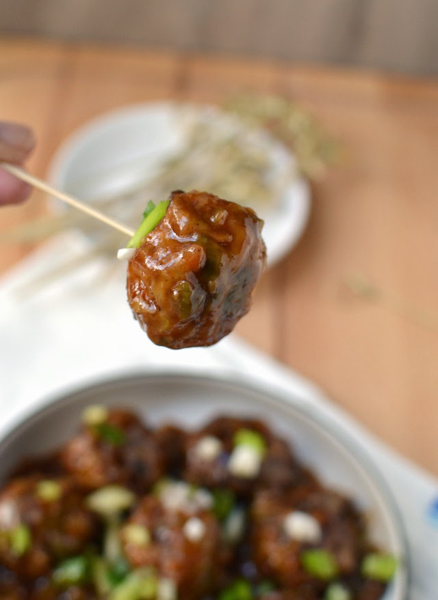 Vegetable Manchurian (Lower fat version)