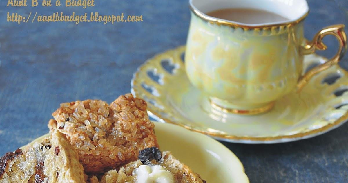 Aunt B on a Budget: Chai Tea and Raisin Scones
