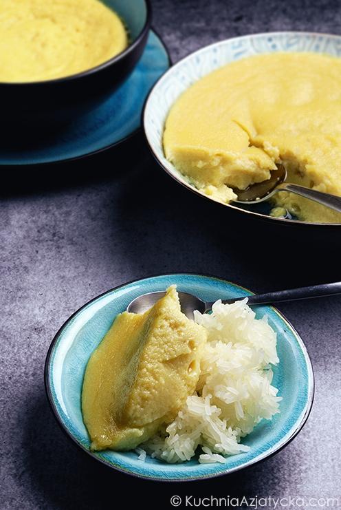 Krem z duriana z kleistym ryżem © KuchniaAzjatycka.com