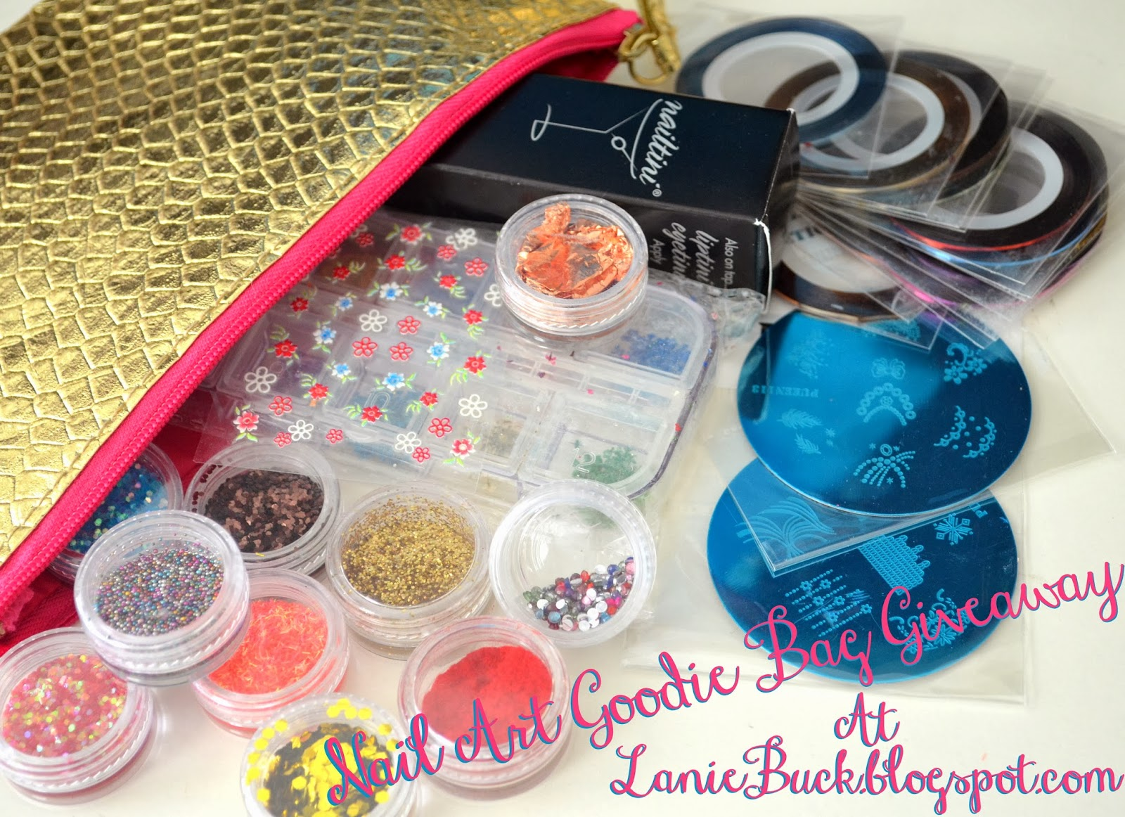 http://laniebuck.blogspot.com/2014/01/giveaway-golden-birthday-nail-art.html