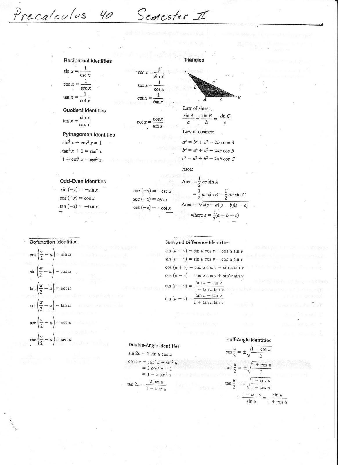 ... Formula Sheet Cake Ideas and Designs Pre Algebra Formulas Cheat Sheet
