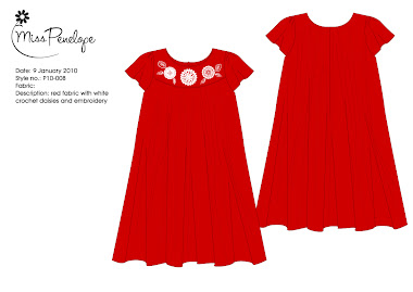 Red Doiley dress