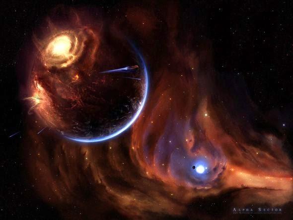 Jeff Michelmann gucken deviantart ilustrações ficção científica espacial