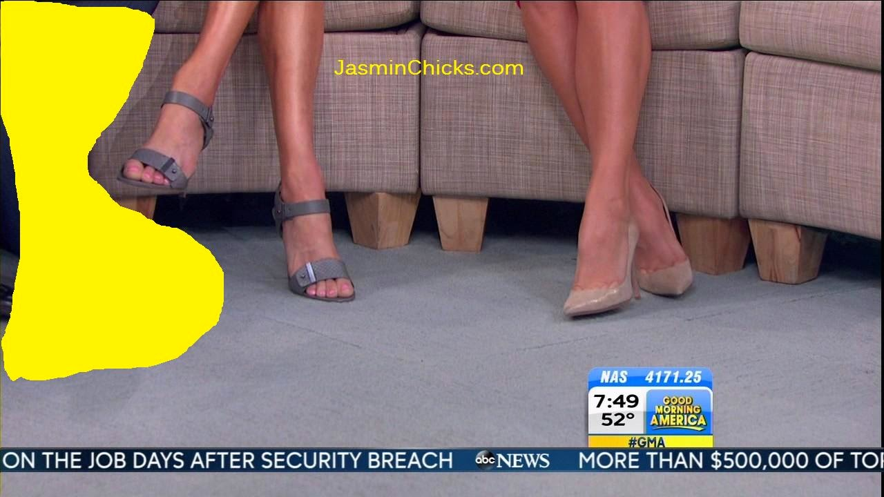 Lara Spencer feet ginger zee feet