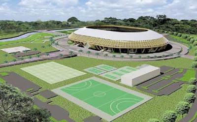 Maket Stadion Utama PON 2012 Riau