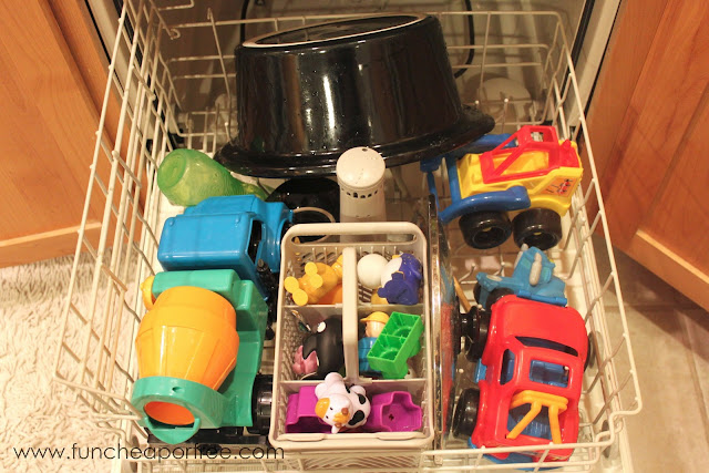 CLEANING HACK! Kick Sickness with your Dishwasher! Banish germs, and get your kids on the mend! www.FunCheapOrFree.com