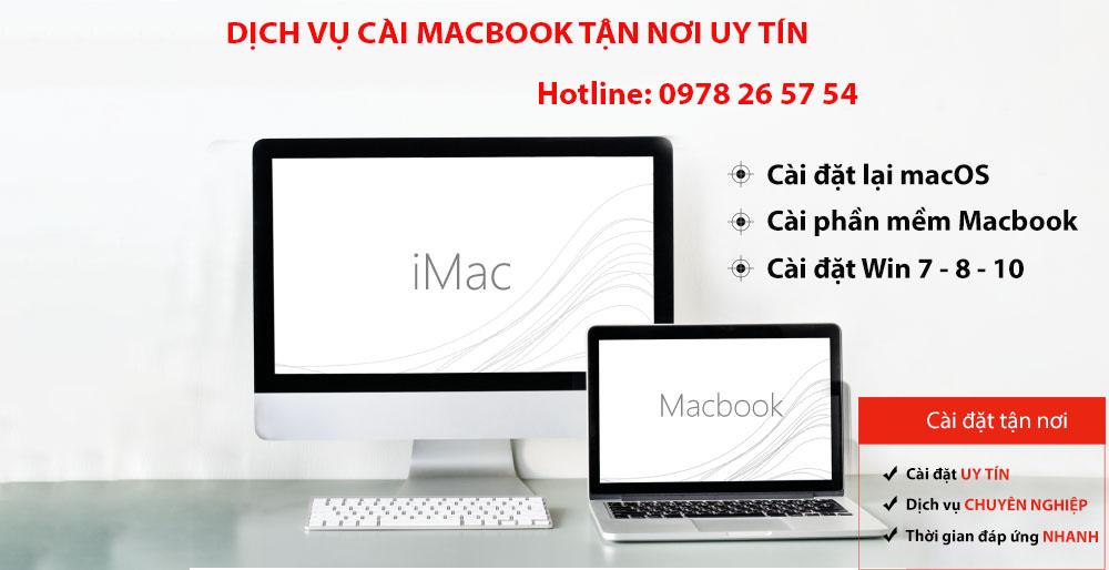 Trung Tâm Cài Macbook Tại Nhà Uy Tín TPHCM