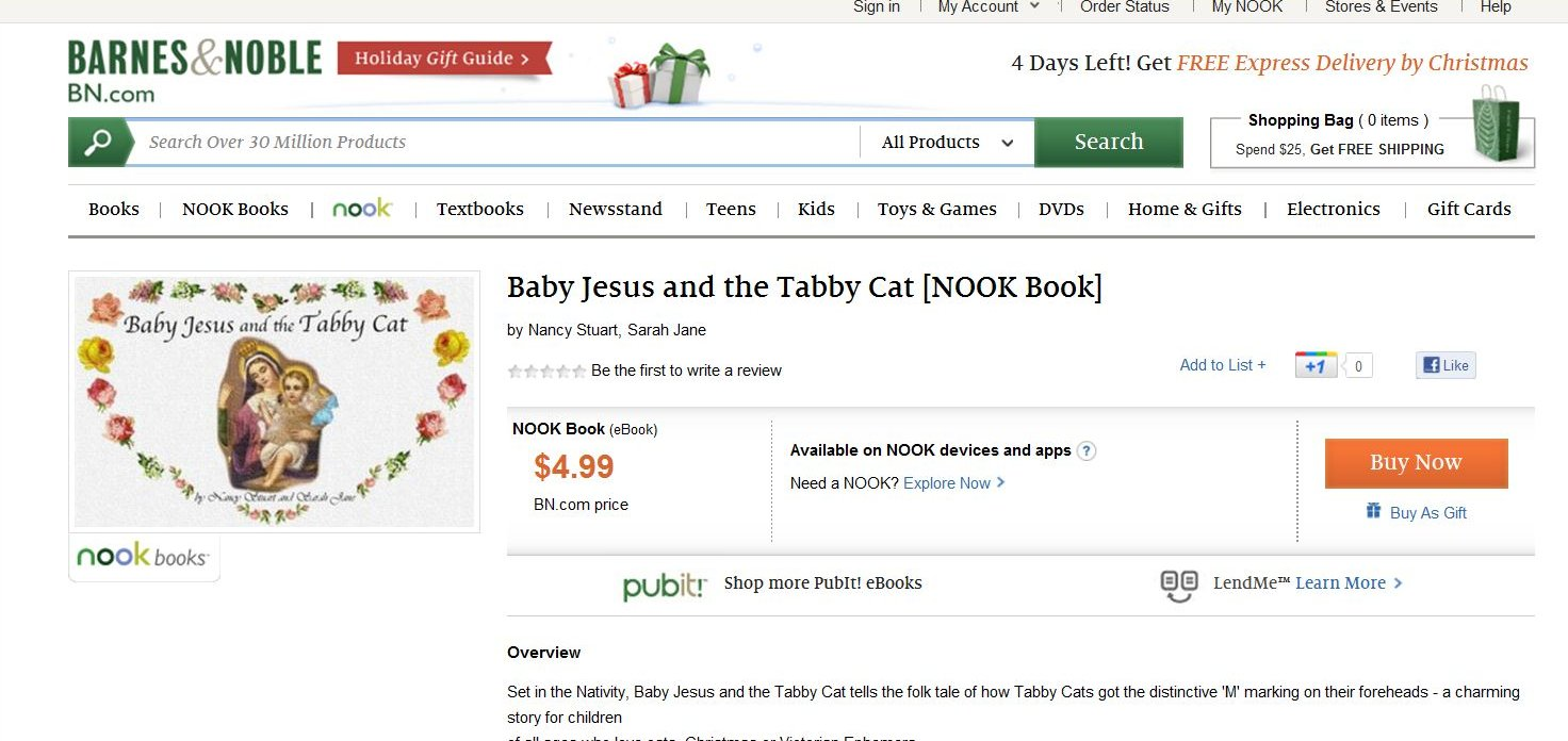Baby Jesus and the Tabby Cat: 2011