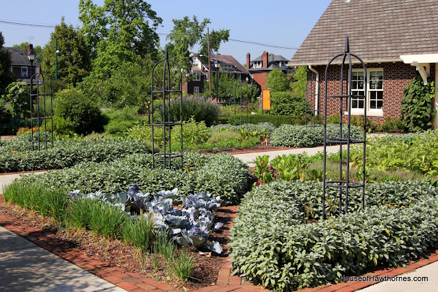 Vegetable gardens at the Franklin Park Conservatory Community Garden