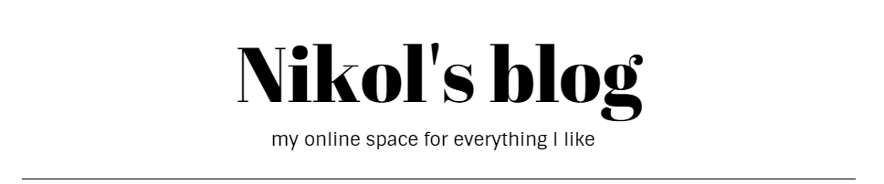 Nikol's blog