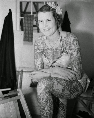 Betty Broadbent Tattoo Lady, http://distopiamod.blogspot.com