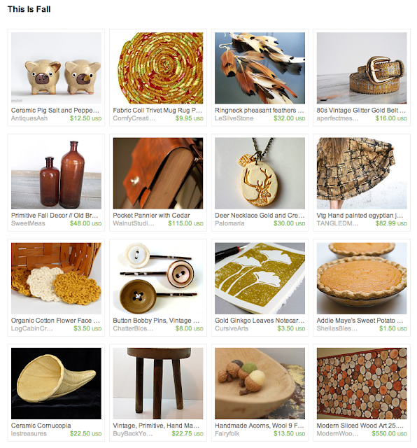 Etsy treasury for fall seasonal and vintage items