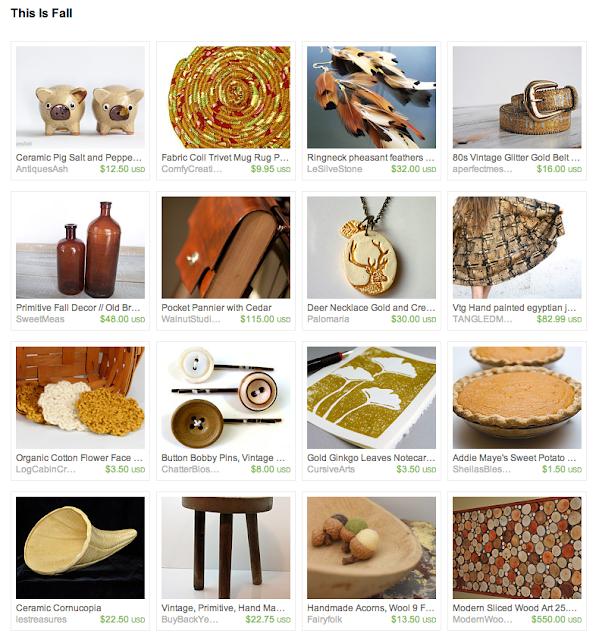 Etsy treasury for fall seasonal and vintage items
