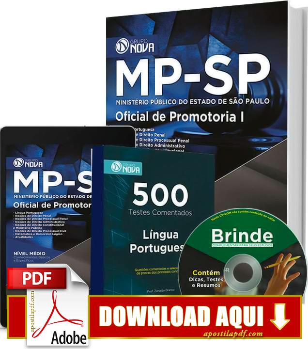 Apostila MP SP 2015 Oficial de Promotoria Impressa PDF Download Grátis