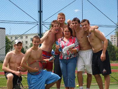 shirtless high school tennis team