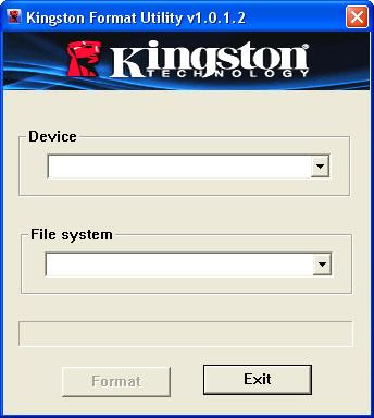 Kingston Format Utility v1.0.1.2