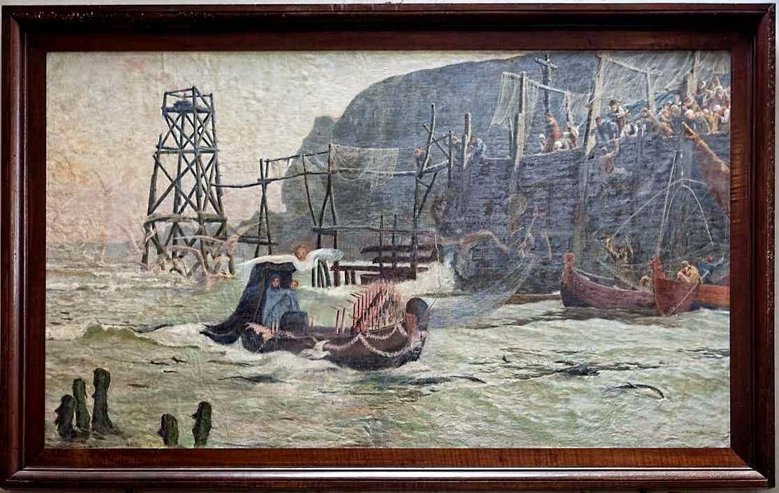 Notre Dame du Grand Retour: o quadro lembra a miraculosa chegada da imagem num navio vazio.