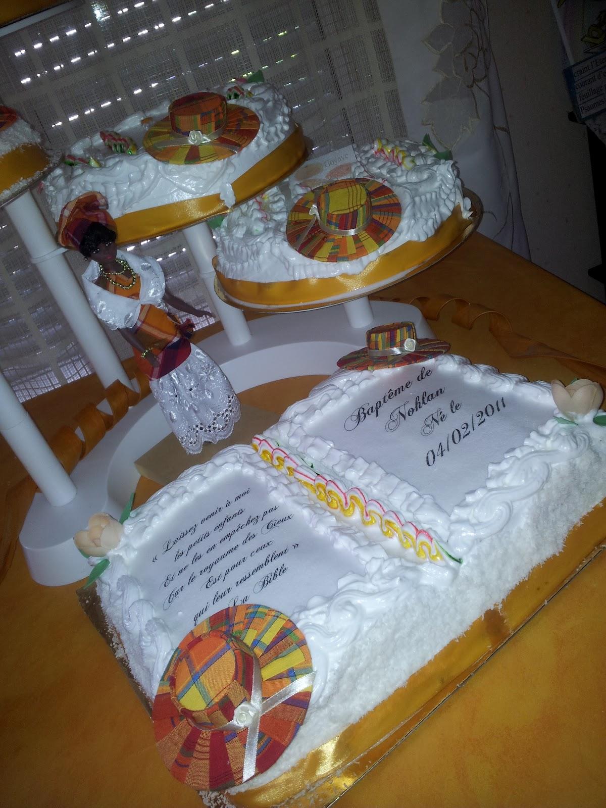 La Pâtisserie de Brunette: Gâteaux baptême antillais