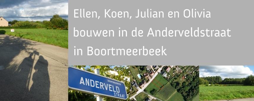 Ellen, Koen, Julian en Olivia bouwen in de Anderveldstraat