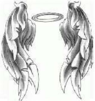 Womenfashion wing tattoo designs for Angel wings tattoo with halo