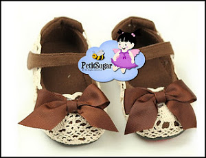 CHLOE BOW SHOES BROWN RM45