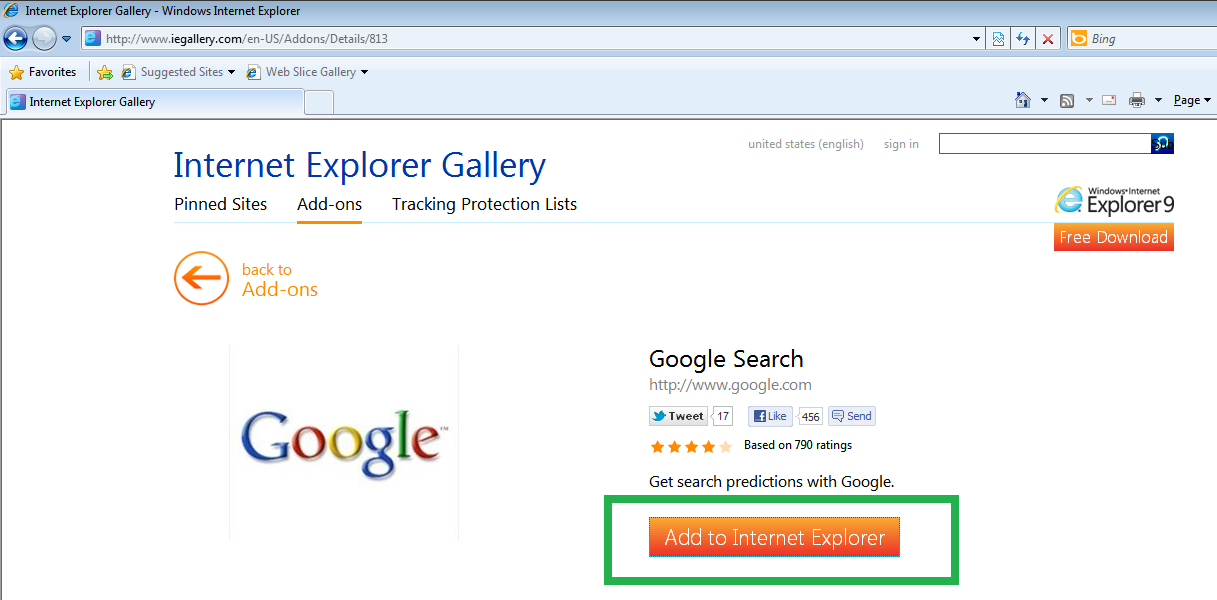 How do I add Google as my search provider. - Microsoft ...