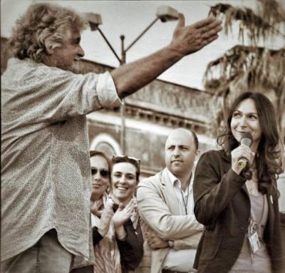 Beppe Grillo e Agata Montesanto