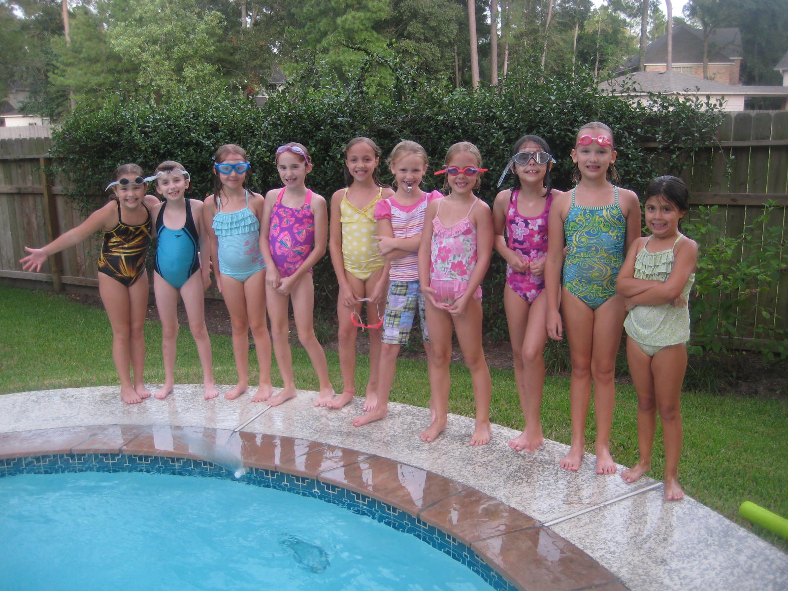 daughters swim party