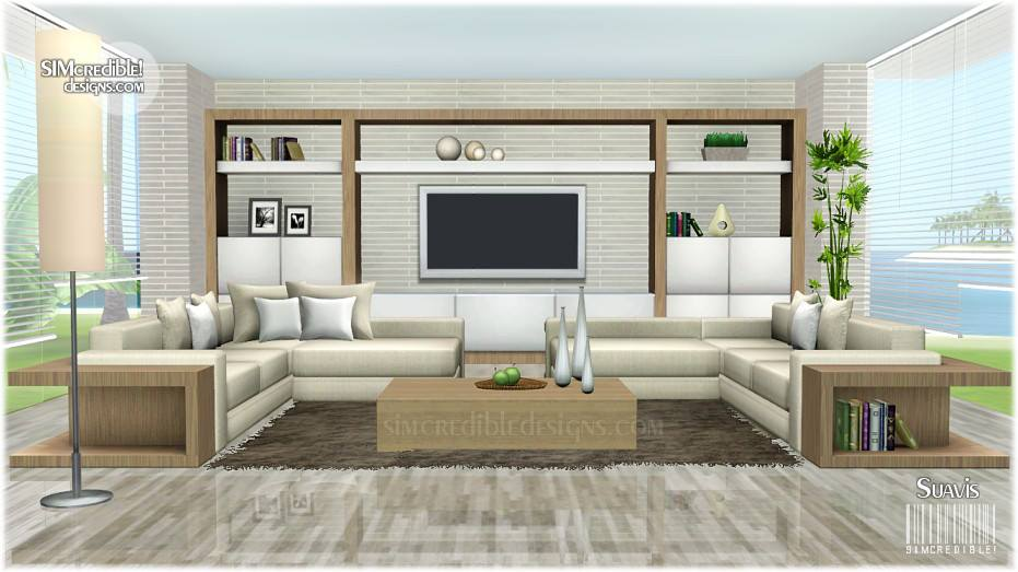 My sims 3 blog suavis living set by simcredible designs for Living room ideas sims 3