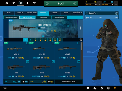 Ghost Recon Online - Store Weapons