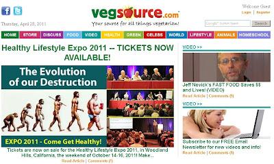 Screenshot of VegSource.com