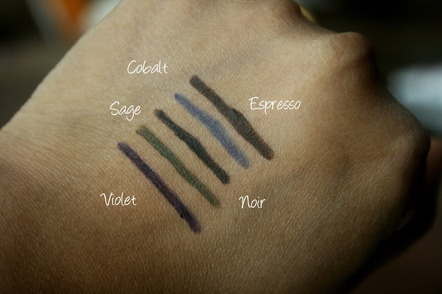 Laura Mercier Line & Define Mini Long wear Creme Eye Pencil Collection Swatches