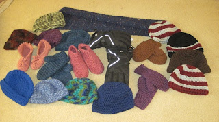 crocheted donations for homeless