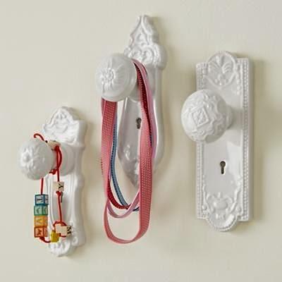 Organizador accesorios pelo con pomos de puerta antiguos