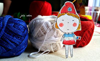 bleu blanc rouge france fête dessin poupette carandach neocolors marianne