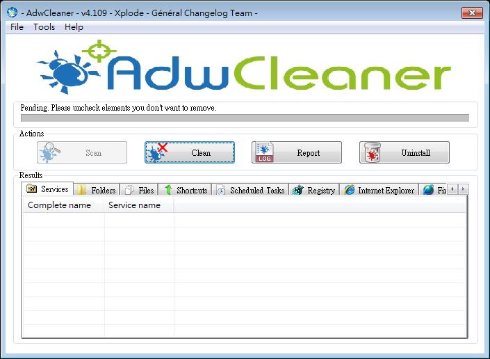 解決網頁綁架 - AdwCleaner Portable (免安裝版)