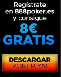 Bono 888 Poker 8€ gratis y 400€ bono de deposito