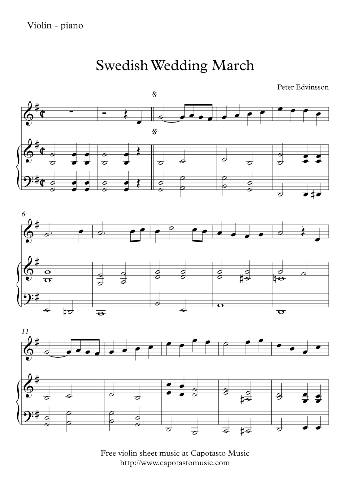 Free Violin And Piano Sheet Music