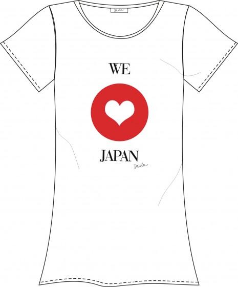 camiseta feita pelas daslu para ajudar o japão
