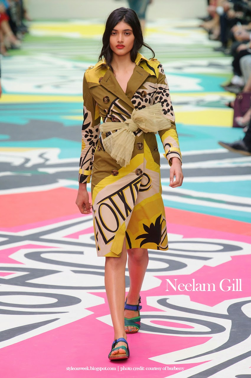 Neelam Gill at Burberry Prorsum Womenswear Spring-Summer 2015 Collection Look